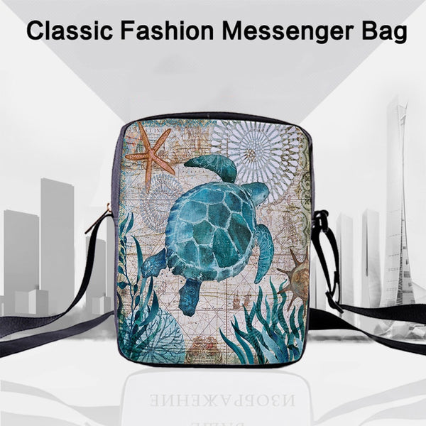 CROWDALE Women Crossbody Bags Marine life Printing for Kids Girls Casual Mini Female Children Messenger Bags Bolsos Mujer - MASO shop