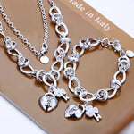 Silver plated Nickle free antiallergic charms set - MASO shop