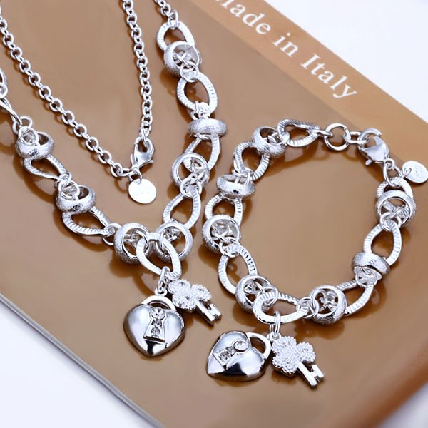 Silver plated Nickle free antiallergic charms set