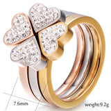 Unique 3in1 Heart Rings Nickle Free