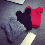 Warm Female Winter Hat Devil Horns - MASO shop