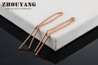 Top Quality Rose Gold Color Drop Earrings
