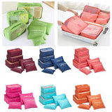 6pcs Travel Packing Bag Space Saver Bags Cubes System Durable Travel Luggage Packing Organizers Clothes Storage Bag with Laundry Bag - MASO