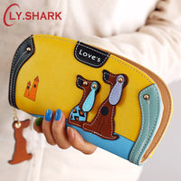 LY.SHARK Cartoon dog wallet