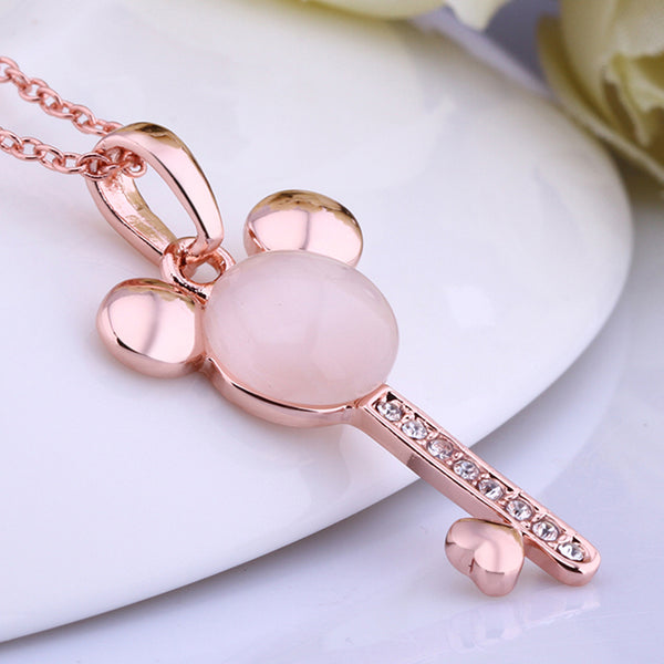 Nickle Free Antiallergic Necklace Pendants Mickey - MASO shop