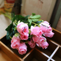 10 pcs Fake Artificial Silk Roses