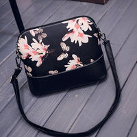 Women Printing Shoulder Bag Leather Purse Satchel Messenger Bag