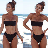 Women Bandeau Bandage Bikini Set Push-Up Brazilian Swimwear Beachwear Swimsuit - MASO shop