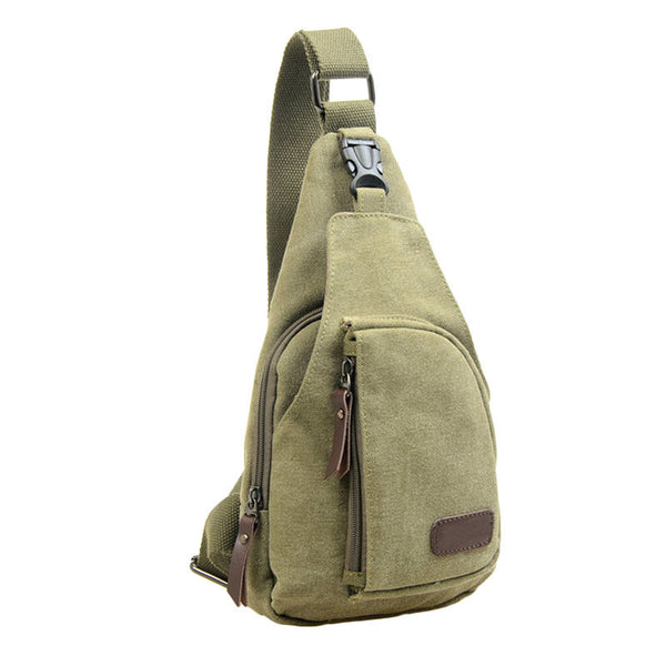 Outdoor Sports Canvas Unbalance Backpack Crossbody Shoulder Bag Chest Bag - MASO shop