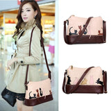 Women Cat Rabbit Leather Shoulder Bag Cross Body Purse Handbag Messenger - MASO shop