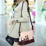 Women Cat Rabbit Leather Shoulder Bag Cross Body Purse Handbag Messenger