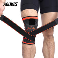 AOLIKES 1PCS 2019 Knee Support Professional Protective Sports Knee Pad Breathable Bandage Knee Brace Basketball Tennis Cycling - MASO shop