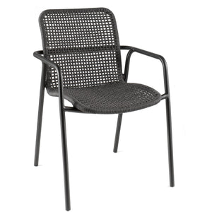 Mykonos Stacking Chair - Alu Black Robe  - Inspiroo powered by IMwillems
