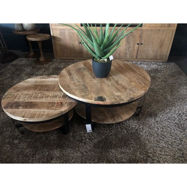 Set van 2 salontafels in mango - iron  - Inspiroo powered by IMwillems