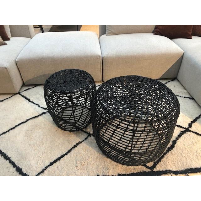 Set van 2 rotan salontafels black Ibiza Style  - Inspiroo powered by IMwillems
