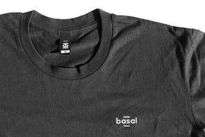 EMBROIDERED BLACK TEE-BASAL