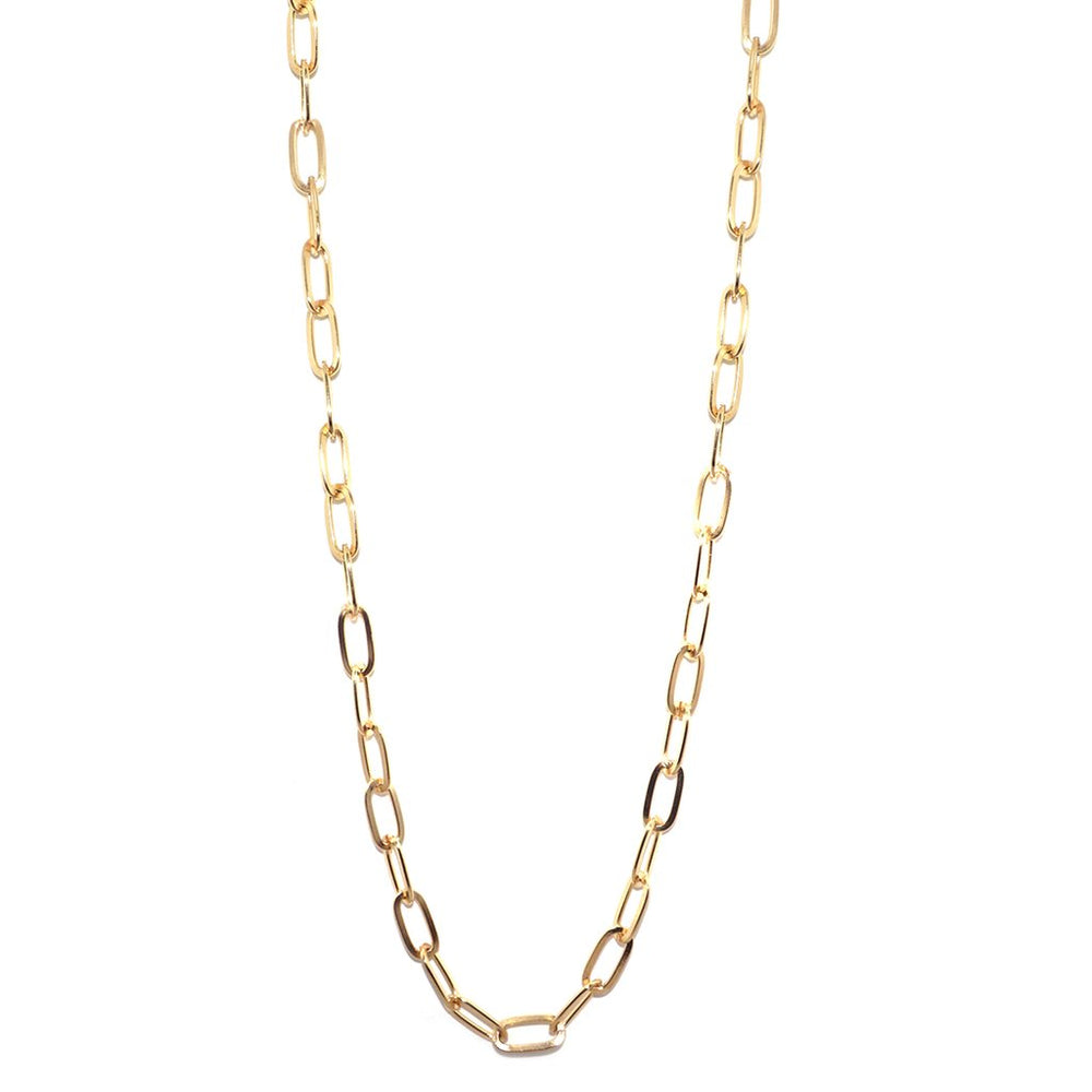 Oval Gold Chain Necklace