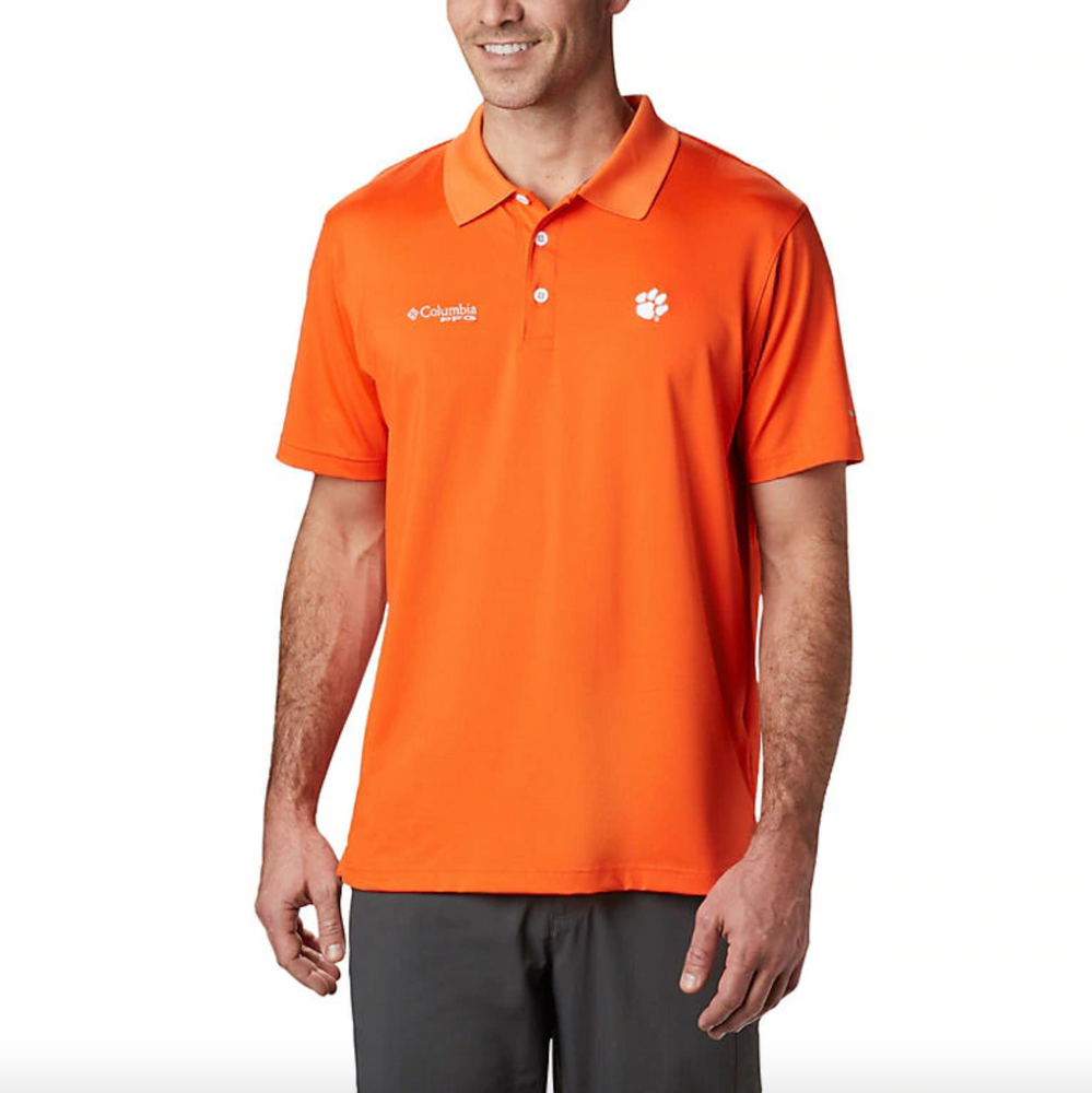 Columbia Men's Clemson Collegiate Skiff Cast Polo