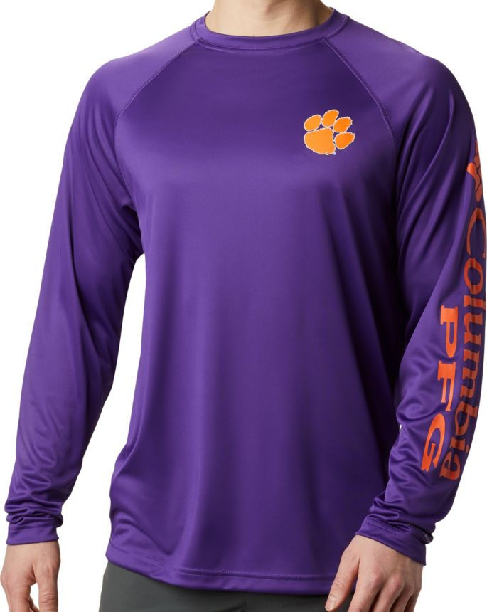 Columbia Men's Clemson Collegiate PFG Terminal Tackle Long Sleeve Shirt