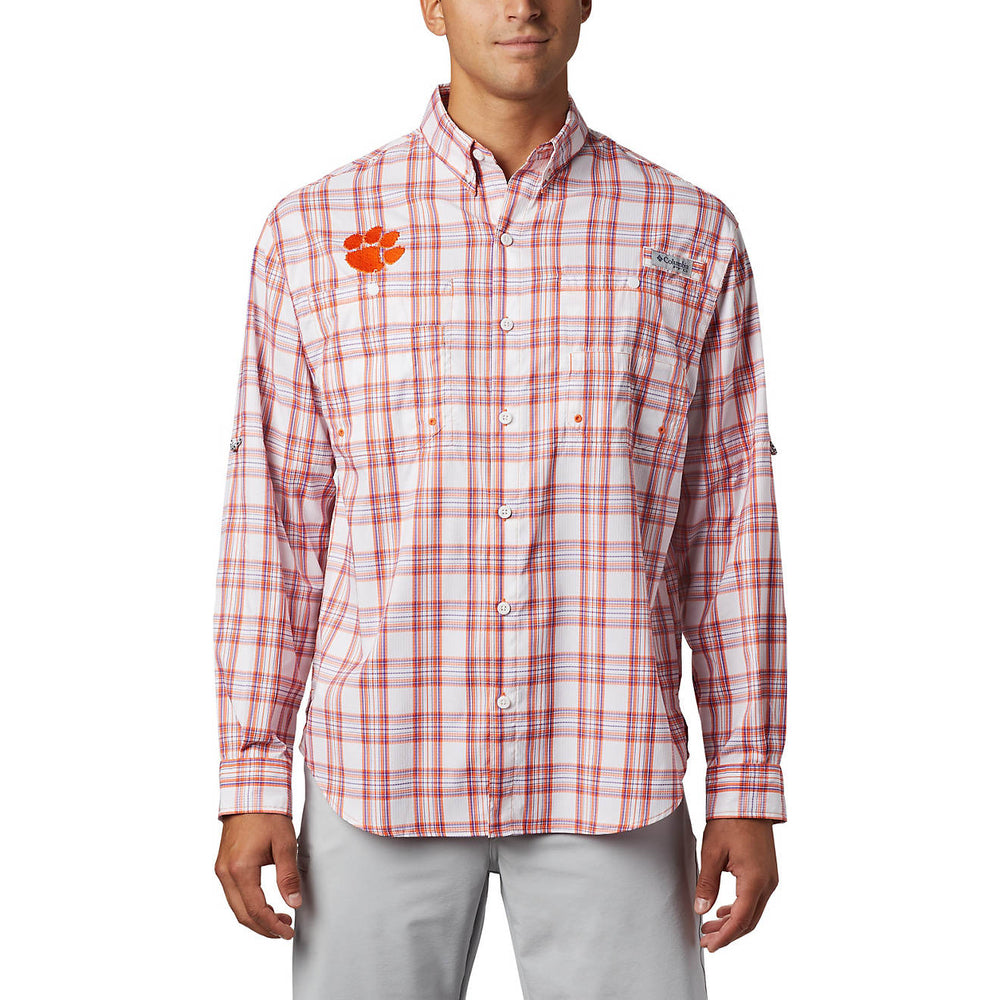 Columbia Men's Clemson Collegiate Super Tamiami Long Sleeve Shirt