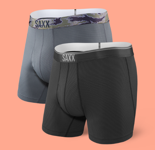 Saxx Quest Boxer Brief Fly 2 Pack