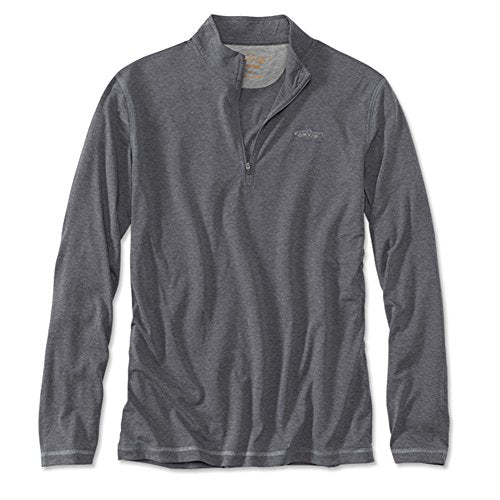 Orvis Men's Drirelease Long Sleeve Zipneck Casting T-Shirt