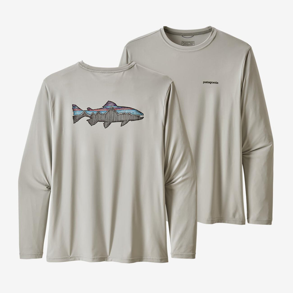 Patagonia Men's Long Sleeve Capilene Cool Daily Fish Graphic Shirt