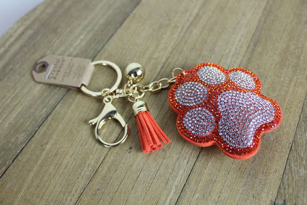 Crystal Paw Key Chain
