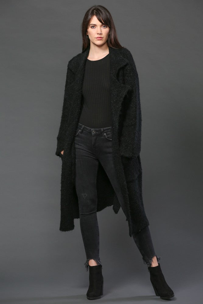 Women's Sherpa Long Knit Coat