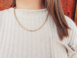 "16"" Gold Link Chain Necklace"