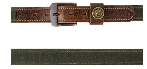Over Under Waxed Canvas Belt
