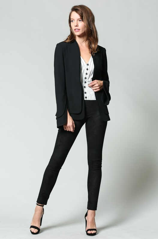 Fate by LFD Layered Crepe Blazer