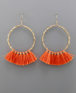 Bead Circle & Tassel Earrings