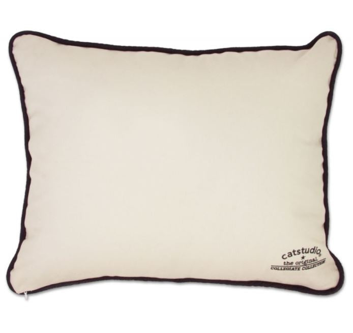 Catstudio Clemson University Hand-Embroidered Pillow
