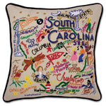 Catstudio South Carolina Hand-Embroidered Pillow