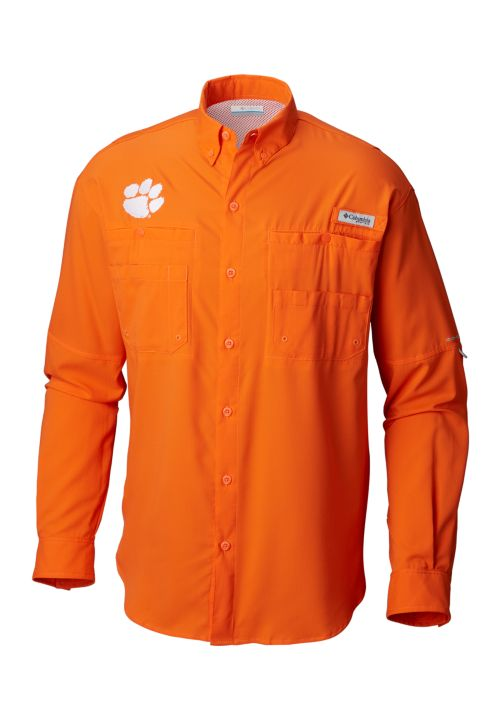 Columbia Men's Clemson Collegiate Tamiami Long Sleeve Shirt