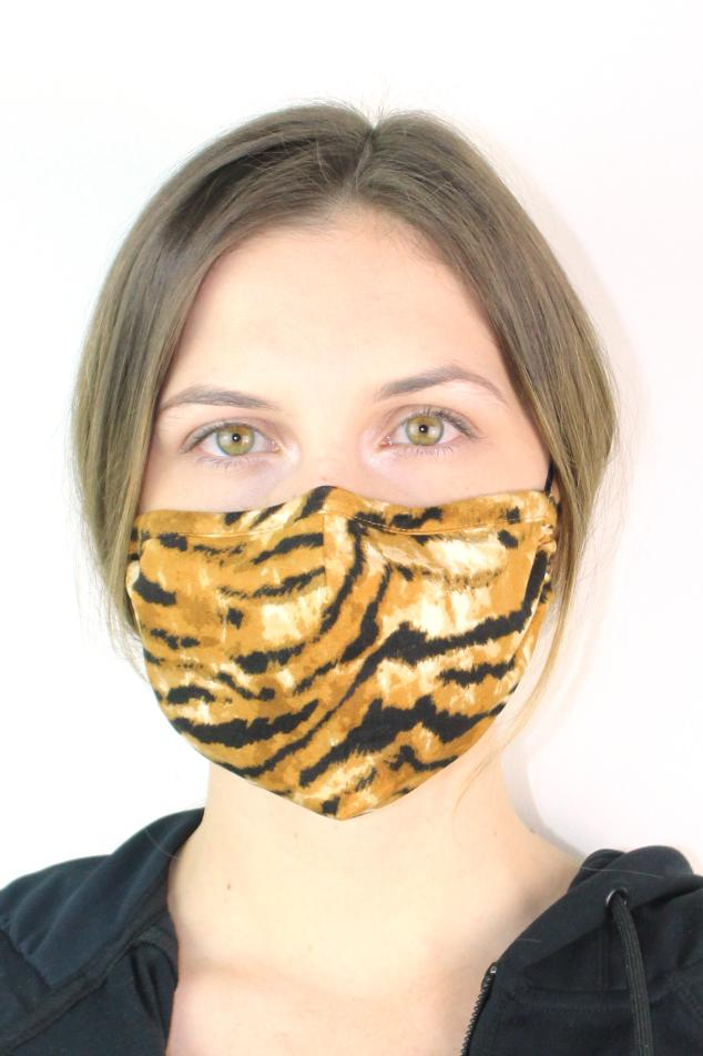 Animal Print Structured Mask