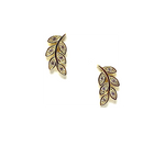 Athena Designs Pave Leaves Stud Earring