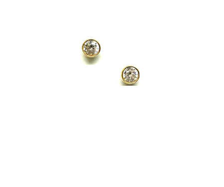 Athena Designs CZ Bezel 3mm Stud Earring
