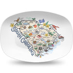 Fish Kiss South Carolina Map Platter