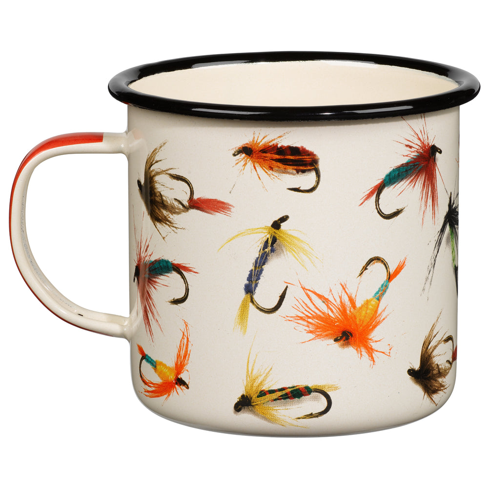 Hook Line & Sinker Enamel Fly Fishing Mug
