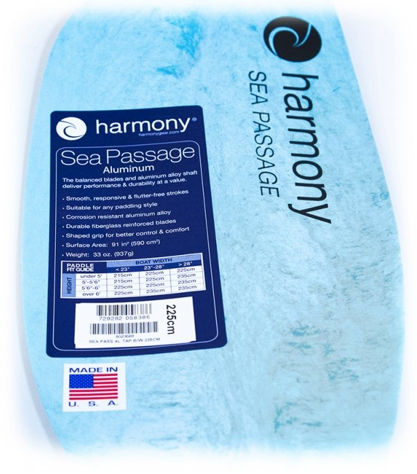 Harmony Gear Sea Passage Aluminum Take-A-Part Paddle