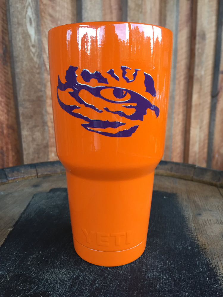 Yeti Rambler 30 oz Custom Tiger Eye