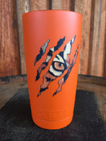 Yeti Rambler 20 oz Custom Tiger Eye Claw Scratch