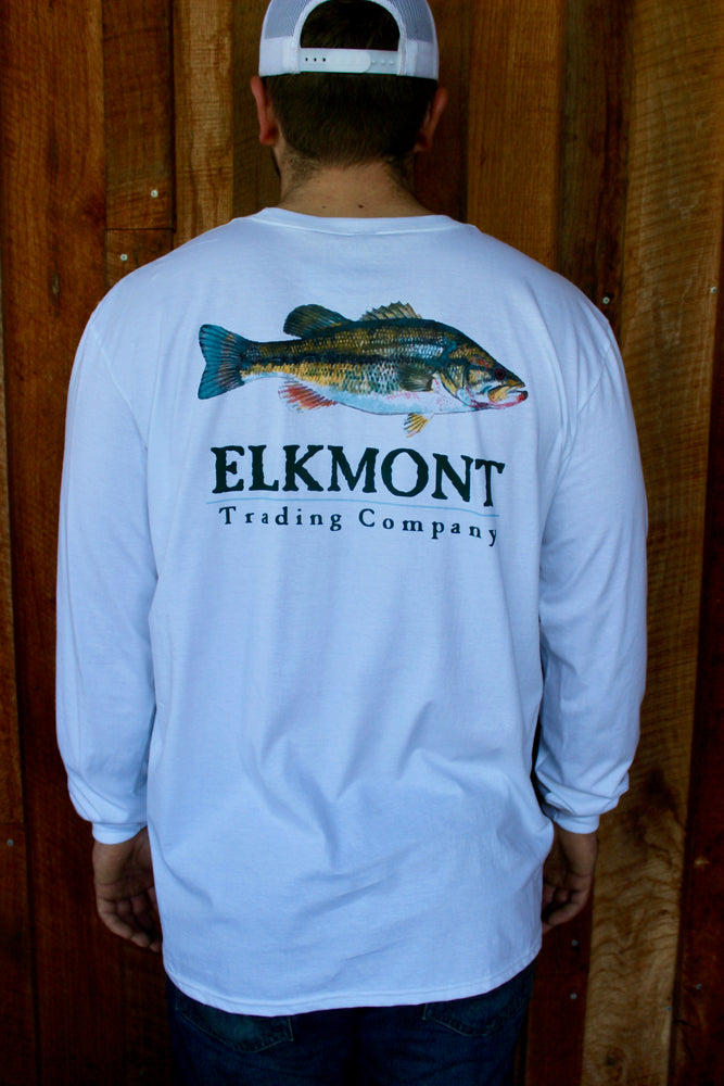Elkmont Striper Fish Long Sleeve Tee