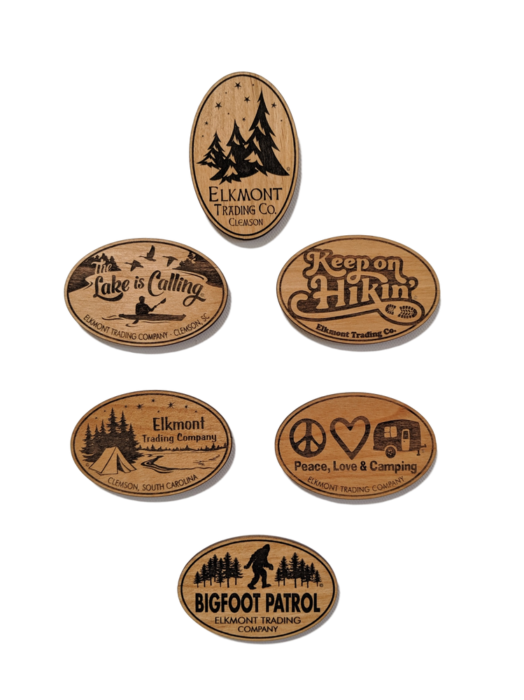 Elkmont Nature Series Wood Magnets