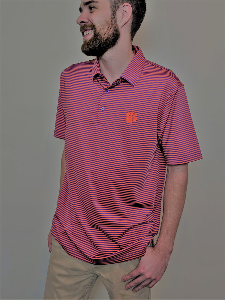 Elkmont Men's Tiger Stripe Performance Polo