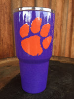 Yeti Rambler 30 oz Custom Tiger Paw