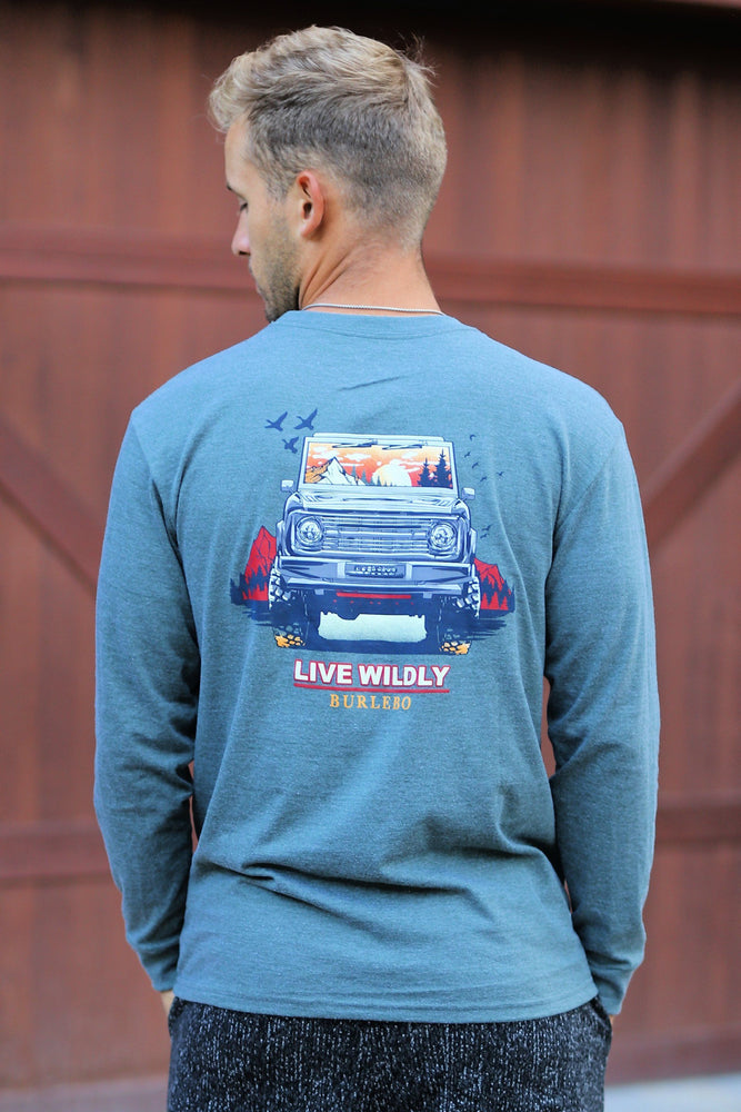 Burlebo Live Wildly Bronco Long Sleeve Shirt