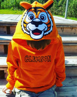 Infinity Apparel Group Child's Orange Hoodie with Clemson Tiger